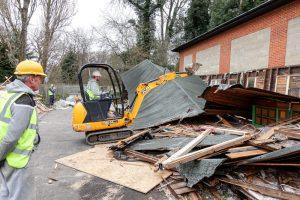demolition of the bar