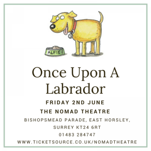 once upon a labrador alfie nomad theatre june 2017 east horsley surrey