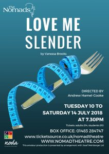 love me slender play comedy vanessa brooks theatre surrey leatherhead