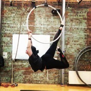 sarah gage aerial hoop circus performer surrey showcase